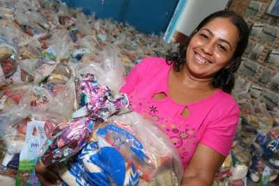 Para a dona de casa Reginalva Alves Ribeiro, os kits ajudarão na manutenção da alimentação dos filhos