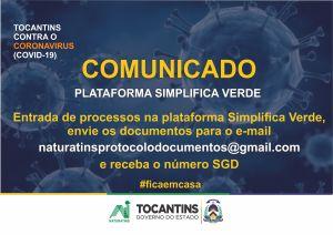 Comunicado - Plataforma Simplifica Verde
