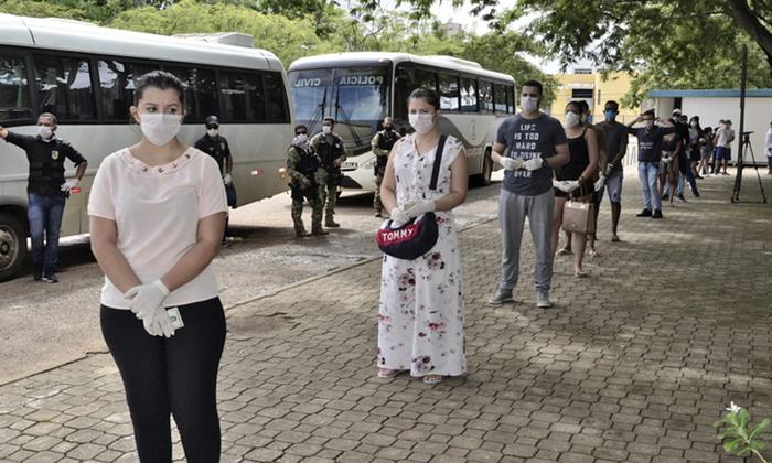 Assim que chegaram à Capital, os alunos foram levados para o Hospital Geral de Palmas