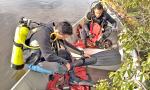 Mergulhadores do Corpo de Bombeiros Militar atuaram na busca e resgate do servidor público do Distrito Federal