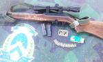 Arma de fogo apreendida durante ação da Polícia Militar Ambiental