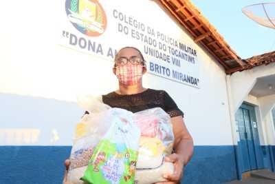 Maria Vilanete Cavalcante dos Santos tem um neto matriculado no Colégio Militar do Tocantins - Unidade VIII, em Guaraí