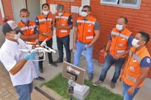 Depois das teorias, bombeiros militares foram para as aulas práticas de pilotagem de drone