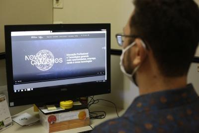 A plataforma on-line traz todas as informações sobre os cursos ofertados