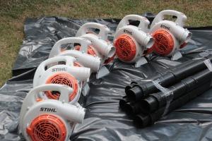 Sopradores que serão usados nas Unidades de Conservação