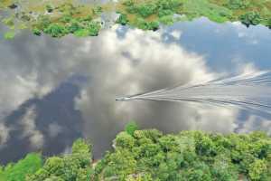 Visão aérea do drone na Unidade de Conservação