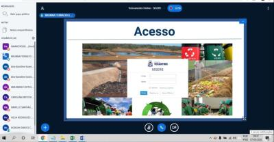 Ambiente de treinamento da plataforma virtual de ensino e aprendizado Moodle