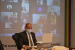 Superintendente Márcio conduziu o encontro virtual da sala de reuniões da SICS.