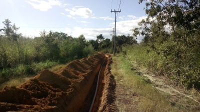 Mais de mil metros de extensão de Rede de Distribuição de Água (RDA) foi executada em Conceição