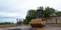 Operação Tapa Buracos no Pátio do Detran-TO em Palmas