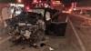 Veículo de passeio envolvido no acidente em Gurupi ficou parcialmente destruído com a colisão