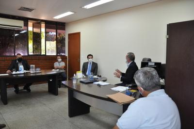 O encontro contou com a presença do Deputado Olyntho Neto e dos representantes do Transporte Rodoviário Intermunicipal de passageiros