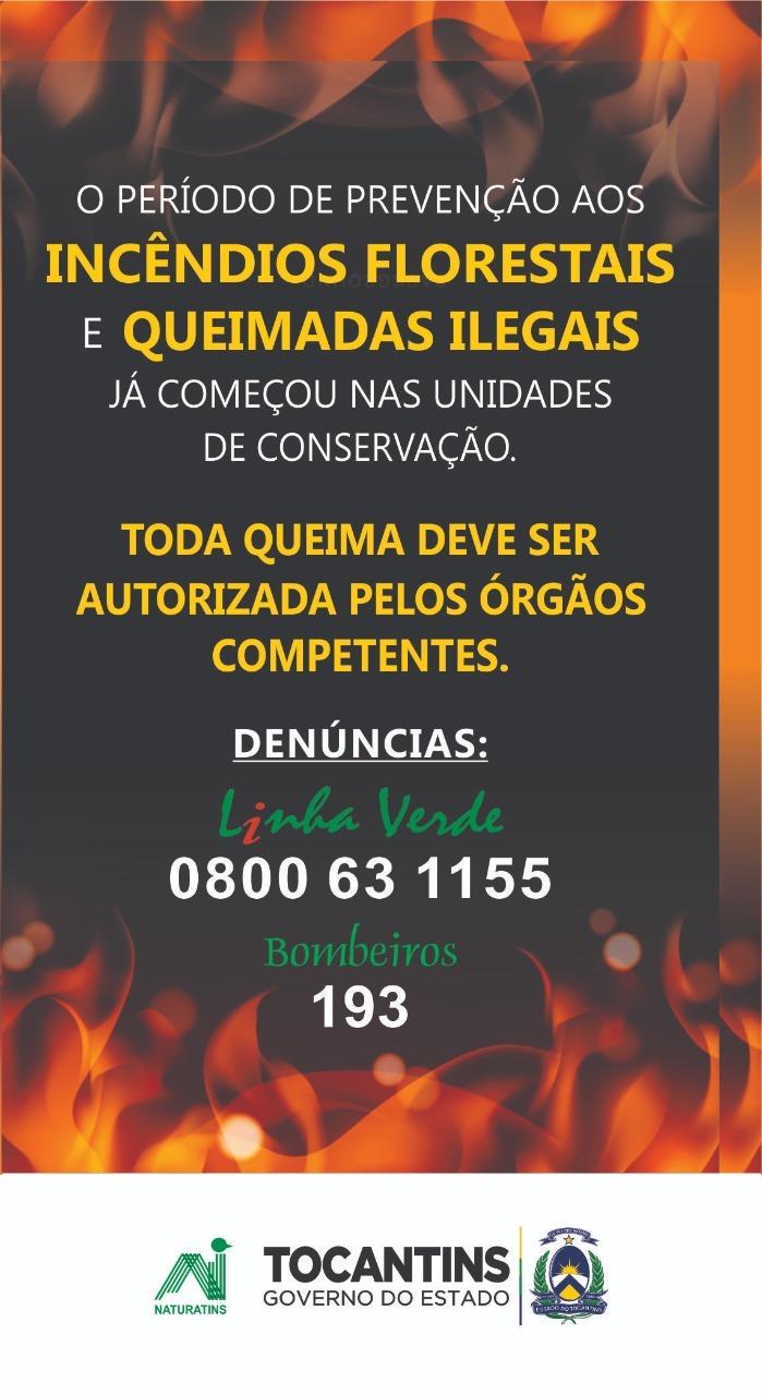 Naturatins inicia campanha de prevenção aos incêndios florestais e queimadas ilegais nas Unidades de Conservação do Tocantins