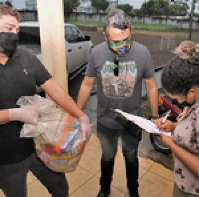 Cestas foram entregues  na Casa do Estudante de Palmas pelo Governo do Tocantins