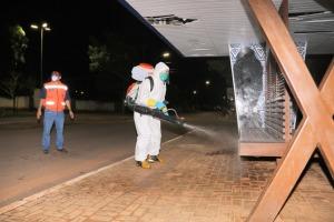 Sanitização contempla pontos movimentados no Plano Diretor Central Taquaralto e em Taquaruçu