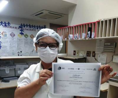 A técnica de enfermagem Doralice Maria de Souza foi umas das profissionais que se qualificou pela plataforma