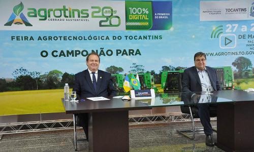 Governador Mauro Carlesse e o secretário César Halum lançaram a feira no dia 12