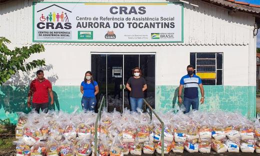 Mais de 65 mil cestas já foram entregues nos 139 municípios