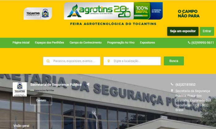 Segurança Pública presente na Agrotins 2020 100% Digital