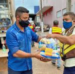 270 cestas foram entregues a Paraíso nesta terça-feira.