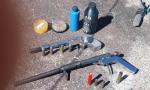 Pólvora, espoleta e demais insumos apreendidos pela Polícia Civil