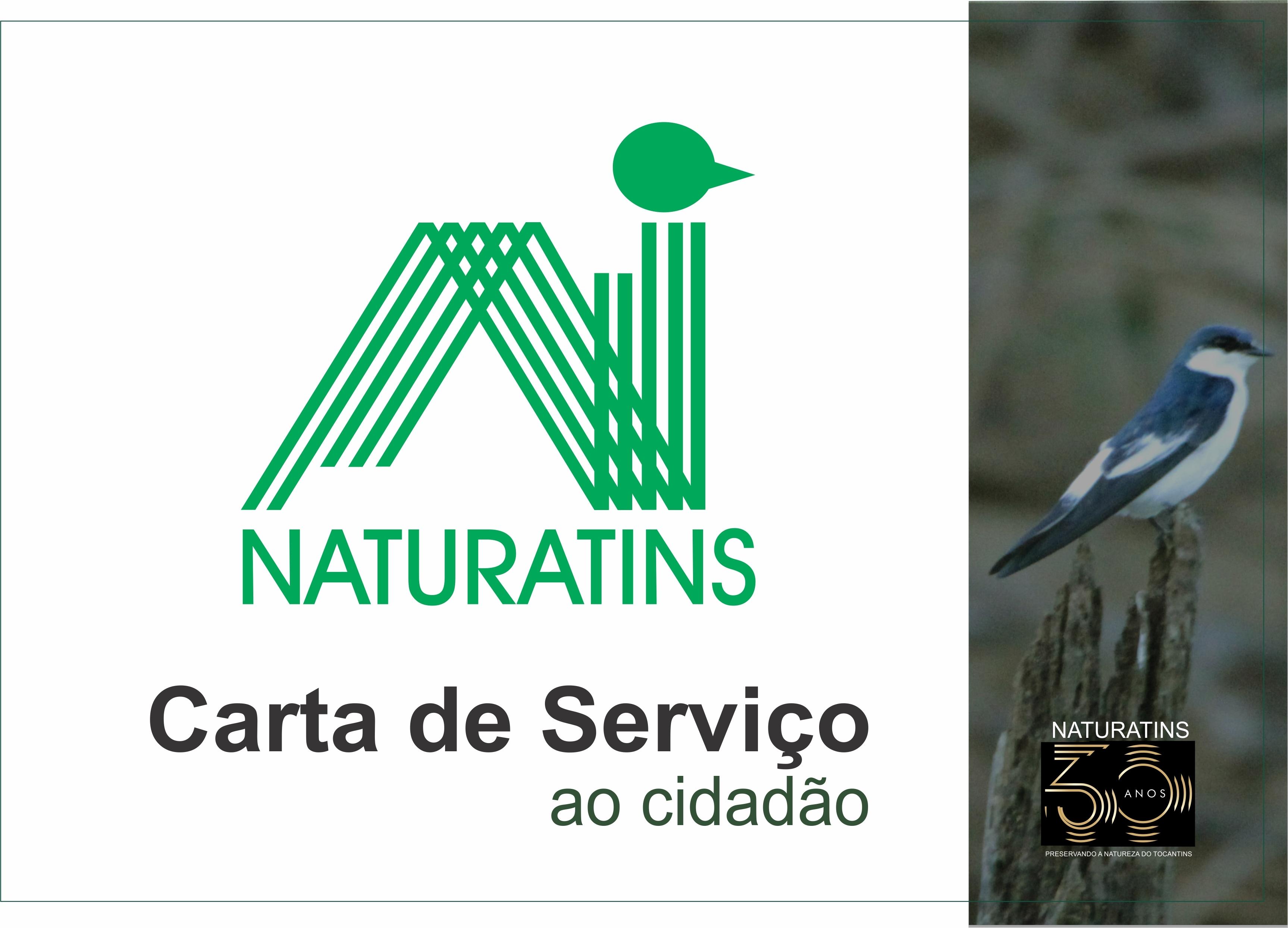 A Carta de Serviços ao Usuário do Naturatins lista, para o público da área rural e urbana do Tocantins, todos os atendimentos realizados pelo Instituto, com acesso disponível na plataforma da Agrotins 2020