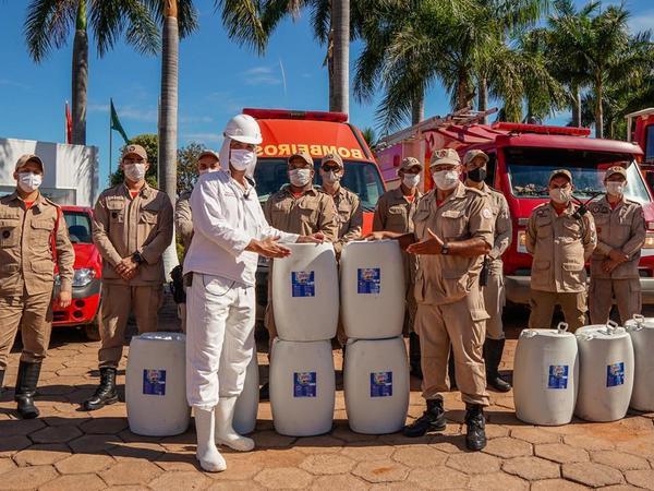 Produto foi entregue nessa quinta-feira, 28, e será utilizado também por outras unidades do CBMTO contra a pandemia