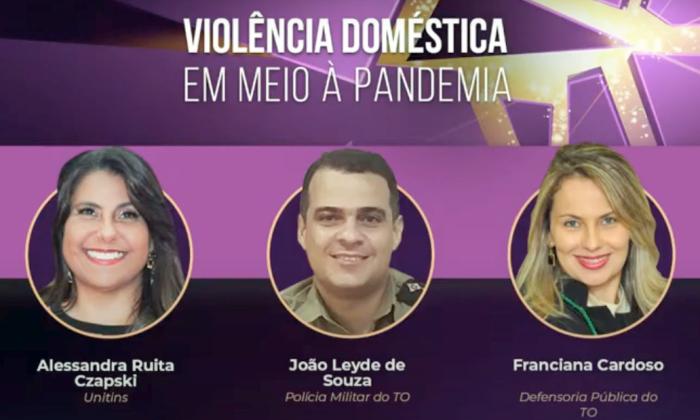 Violência doméstica em meio à pandemia foi o tema de uma live