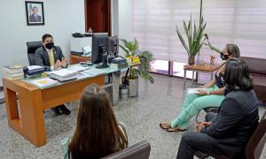 Secretário da Casa Civil, Rolf Vidal, recebeu líderes sindicais que representam os policiais civis do Estado do Tocantins