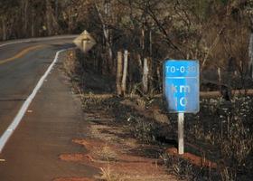 Queimadas às margens de rodovias elevam o risco de acidente.