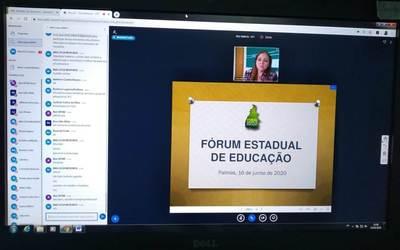 A I Reunião Ordinária de 2020 do FEE/TO, com transmissão virtual, contou com a presença de 25 entidades