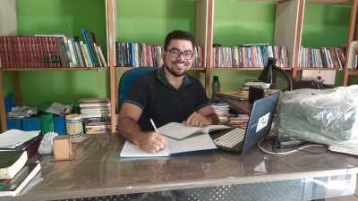 O professor de Biologia do ensino regular e do terceiro ciclo da Educação de Jovens e Adultos, Welledes Moreno Aguiar, destacou a importância da experiência