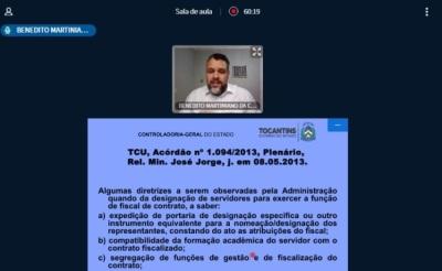 O curso foi ministrado pelo superintendente de Gestão e de Ações de Controle Interno da CGE, Benedito Martiniano da Costa Neto