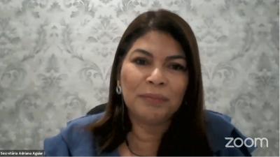 Adriana Aguiar destacou o planejamento de ações educacionais do Governo do Tocantins durante a pandemia