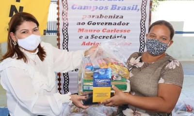 Governo do Estado inicia entrega de kits de alimento para alunos de escolas municipais por Araguaína