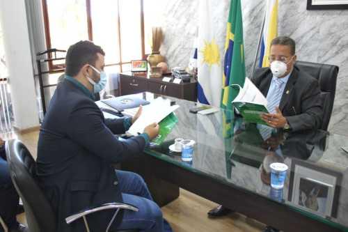 Thiago Pereira e Tom Lyra discutiram projetos envolvendo estímulo ao agronegócio