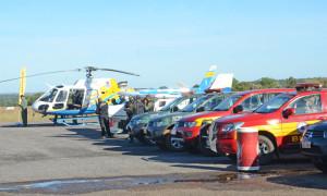 Helicóptero e viaturas diversas serão empregadas nas ações durante o trabalho dos agentes