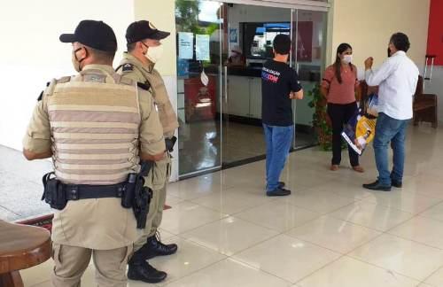 As equipes percorreram os principais pontos comerciais da região central de Gurupi e Araguaína