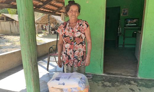 A senhora Maria de Lourdes, também manda um recado de agradecimento ao governador Mauro Carlesse'