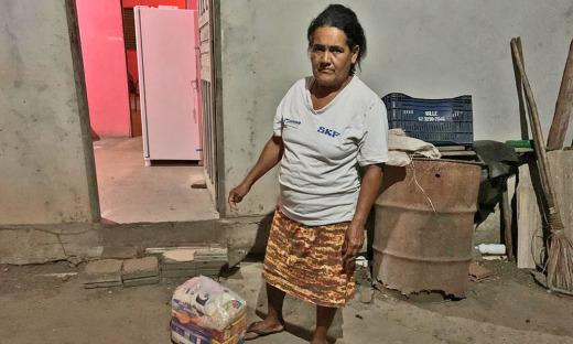 A dona Maria Aparecida é muito querida e lembrada pelos vizinhos assentados