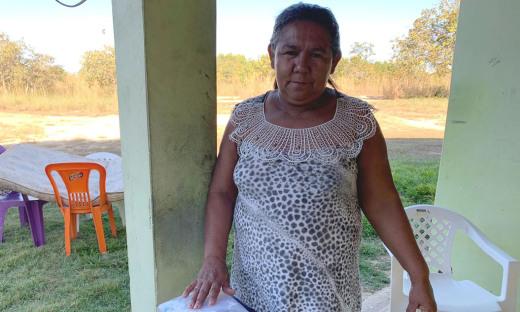 Juanilde Silva, moradora do assentamento Mata Azul, próximo a Pequizeiro, contou um pouco de sua história