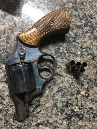 PM apreende uma arma de fogo calibre 38 contendo quatro cartuchos deflagrados em Araguaína.jpeg