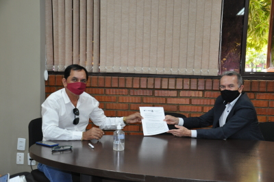 Prefeito Wagner Nepomuceno e Presidente Edson Cabral, respectivamente