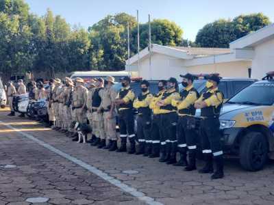 Detran-TO e PM em operação no município Gurupi.