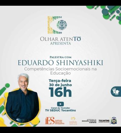 O evento online será transmitido, às 16h, pelo canal TV Seduc no YouTube - Divulgação/Seduc Tocantins.