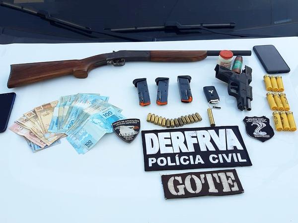 Polícia Civil identifica e prende integrantes da quadrilha que praticou roubo na fazenda Canadá em Figueirópolis