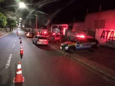 PM em ação conjunta com Detran em fiscalização de trânsito em Araguaína.
