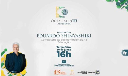 O evento online será transmitido, às 16h, pelo canal TV Seduc no YouTube