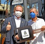 Governador Mauro Carlesse ao lado do prefeito de Arraias, Wagner Gentil
