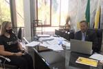 Lorena Ribeiro e Tom Lyra, durante webconferência sobre a Lei Aldir Blanc